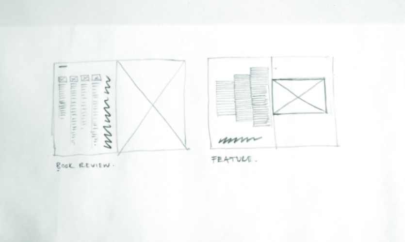 Once we had that framework, we could apply the grid to features and columns.