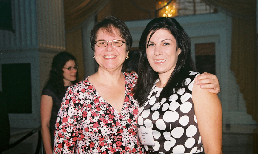 At the annual conference, Ann poses with her right-hand staffer, Director of Events Jennette Foreman