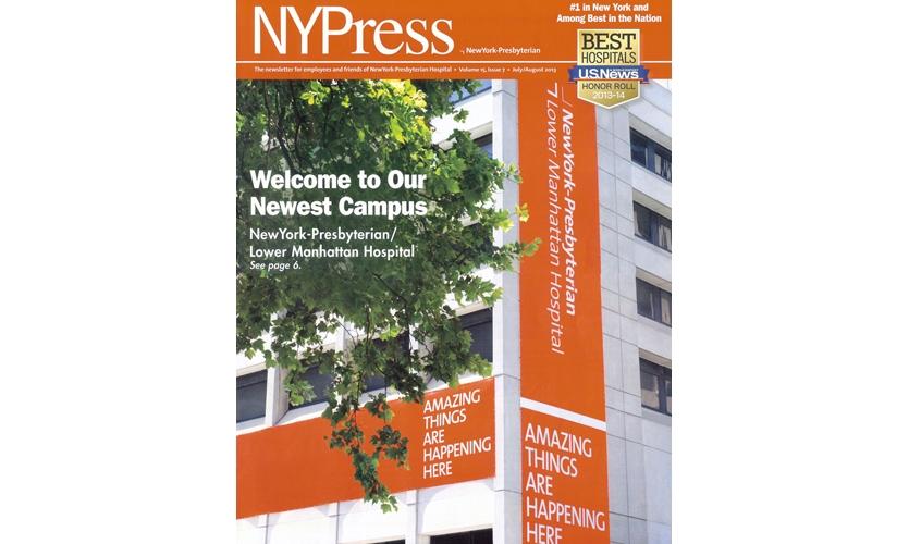 "New York Presbyterian ""expansion"" signage in lower Manhattan"