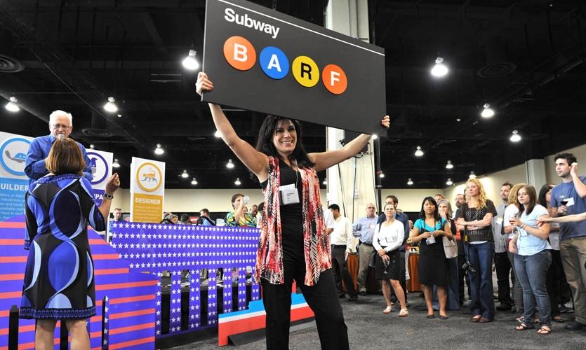 SEGD Auction donation:  NYC Subway BARF sign