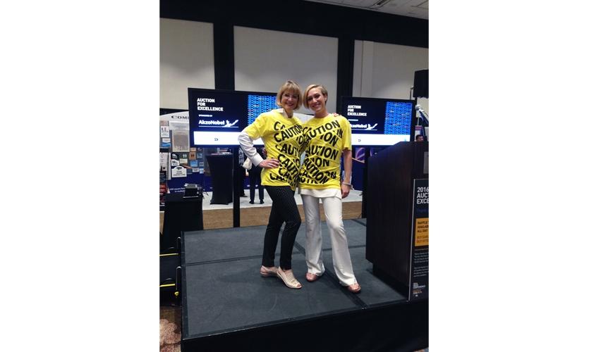 SEGD Auction donation:  award winning CAUTION tape t-shirt