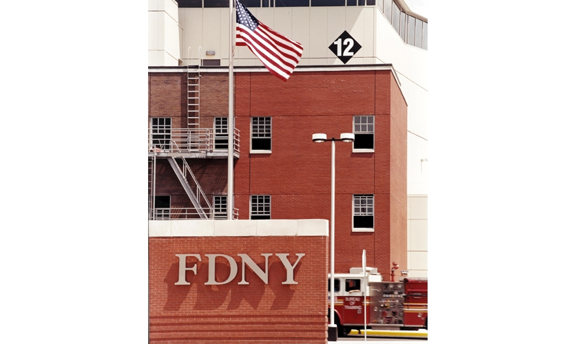 Signage at the FDNY Training Academy on Randall's Island