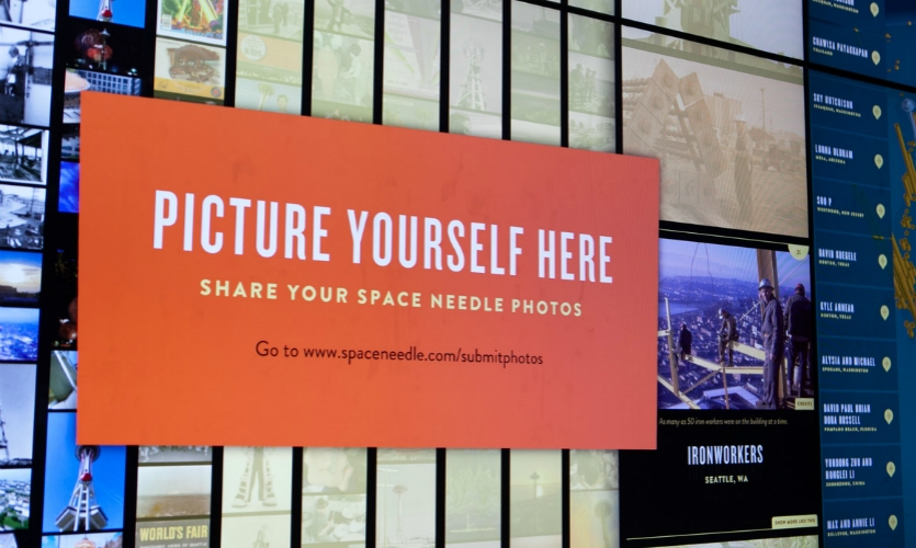 The wall also encourages visitors to share their photos and memories of their experience.