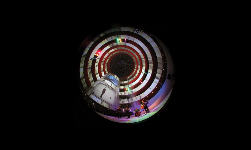 For the YouTube/Play video awards ceremony held at the Guggenheim in New York in October 2010, Obscura Digital mapped the 25 winning projects onto the museum's famed interior spiral using eight 20K lumen projectors and a real-time 3D and video playback system.