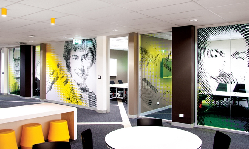 3M Australia Headquaters graphic portraits pay homage to key inventors who contributed to 3M's successes