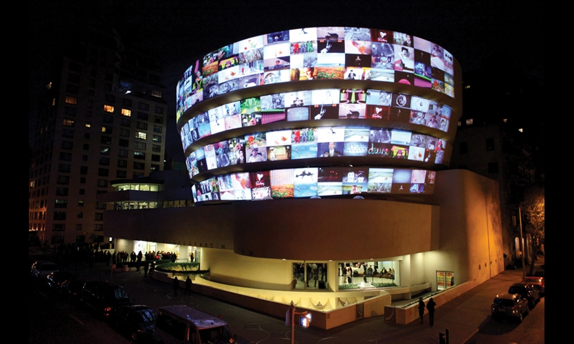 """YouTube Play. Live at the Guggenheim"" was produced by Sunset Lane Entertainment. The event and Digital Gallery were designed by Consortium Studios."