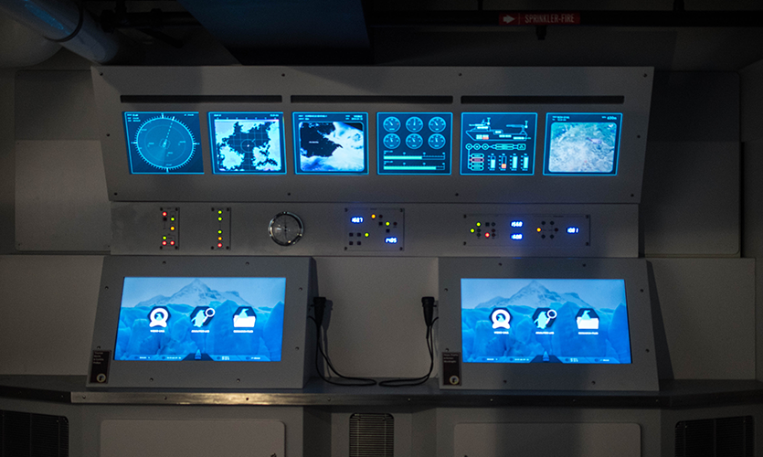 "Inside the vessel, visitors can ""virtual video chat"" with real scientists"