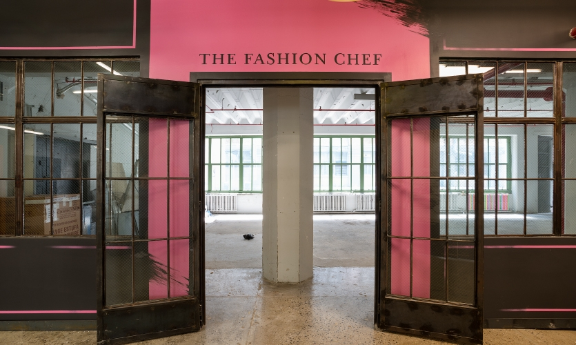 One of the painted food hall graphics was for The Fashion Chef.