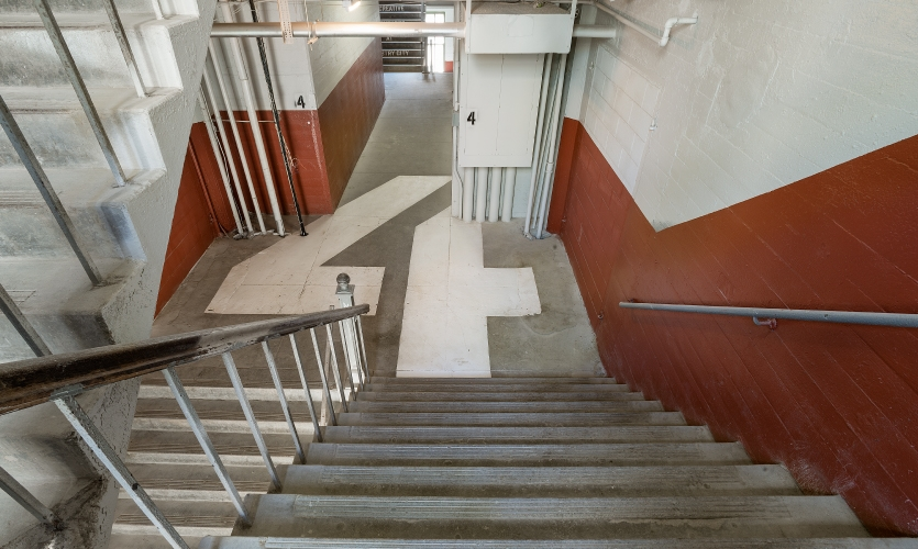 The Airspace team worked with Jamestown's in-house painter, Will Van Zee on all areas including stairwells.
