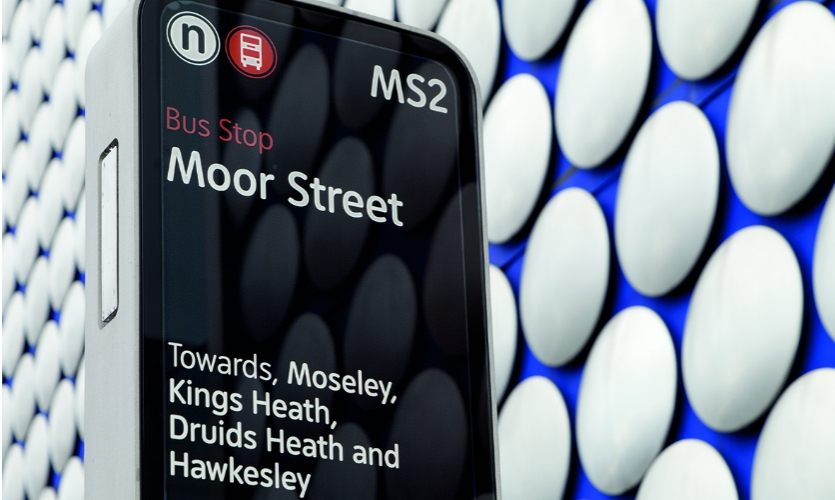 The Interconnect system in Birmingham, UK, streamlines and clarifies information in a simple, intuitive way that reveals options about what to do and how to get there.