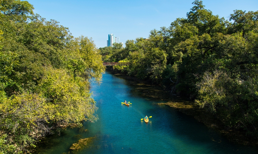 Wish You Were Here: Kayaking on Lady Bird Lake