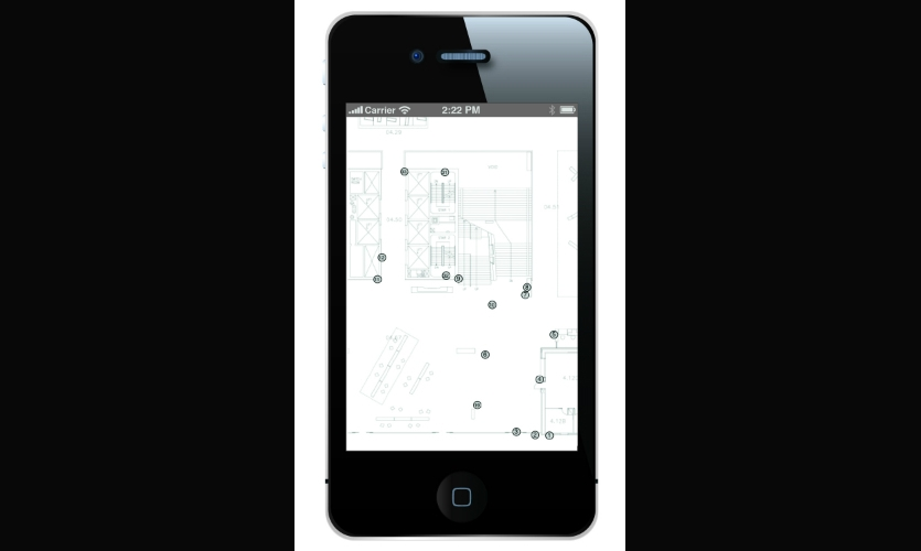 Plot points on the actual floorplan within the Surveyor app