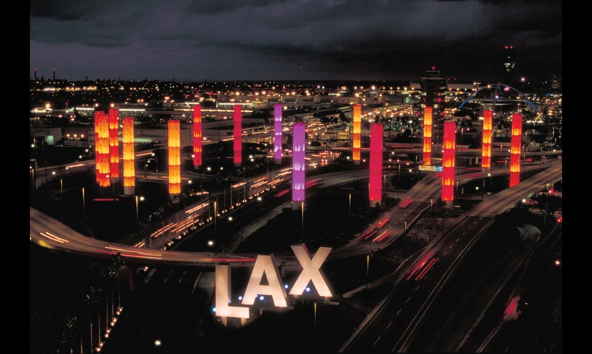 SPD created the name, identity, signage, and wayfinding for the Los Angeles World Airports, including the landmark LAX Gateway.