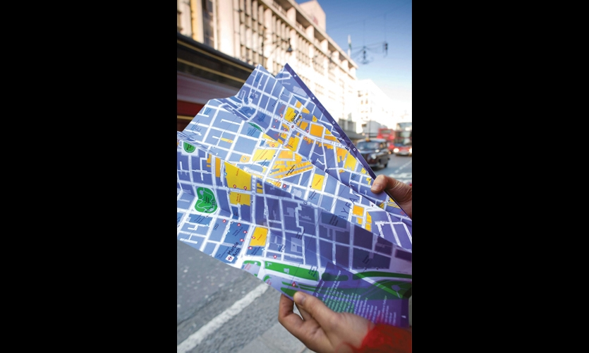 Printed maps are also available.