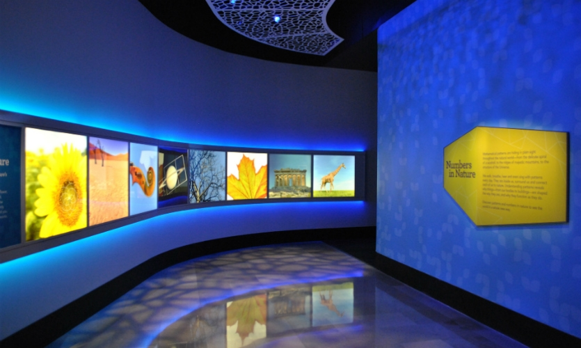 A design team including Luci Creative and Leviathan developed the 7,500-sq.-ft. exhibit designed to make math fun.