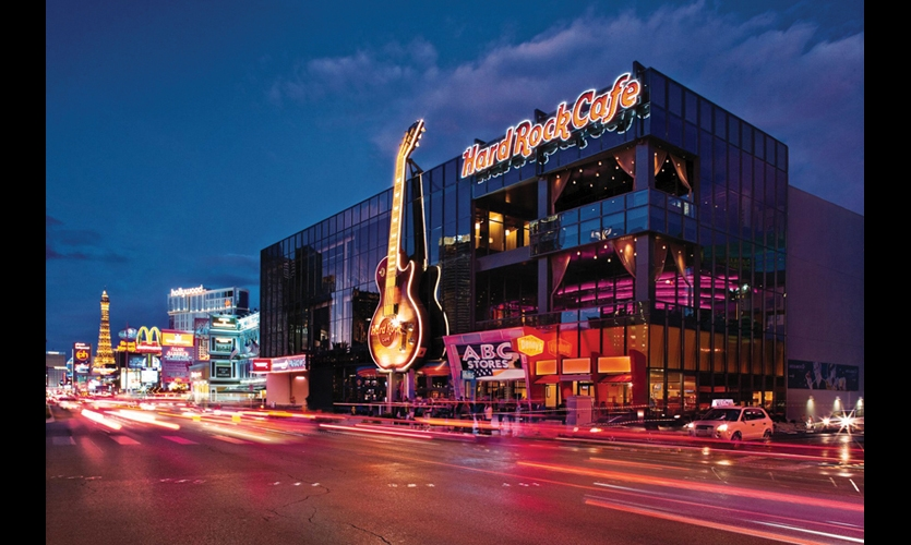 The new flagship Cafe in Las Vegas was the testing ground for the new suite of interactives. (Photo: Hard Rock International)