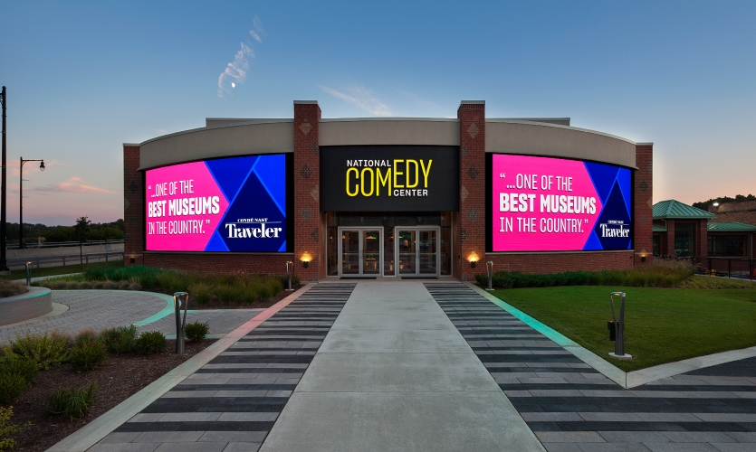 The National Comedy Center in Jamestown, New York includes a brand-new museum devoted to the history of comedic arts in America—and making people laugh.