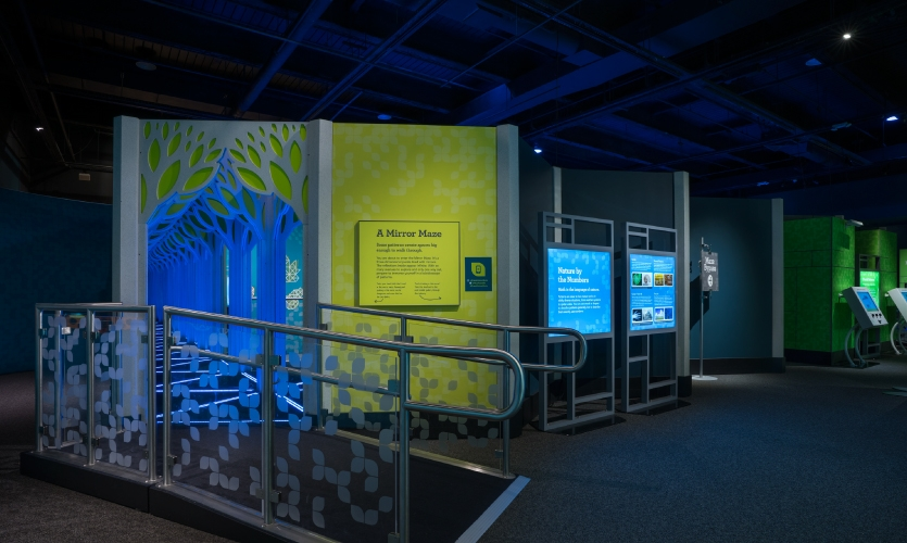The two exhibits, designed and built by the same exact team of MSI, Luci Creative, Leviathan, Ravenswood Studio, Lightswitch and Harvest Moon Studio, are very comparable in size.