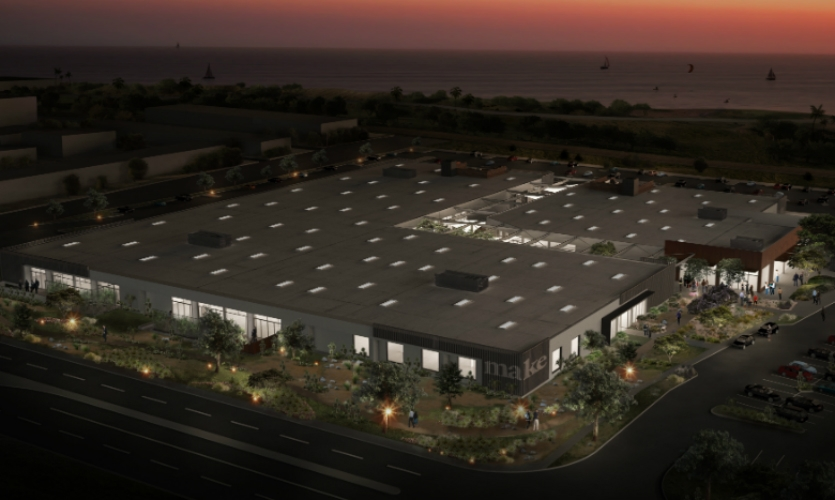 It's located in a converted 175,000-sq.-ft. floral warehouse near the beach.