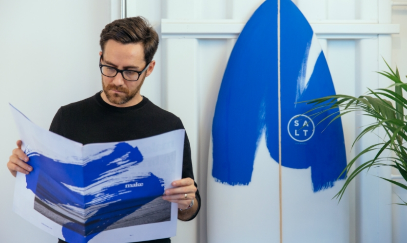 Custom surfboard designs are also a part of the brand identity.