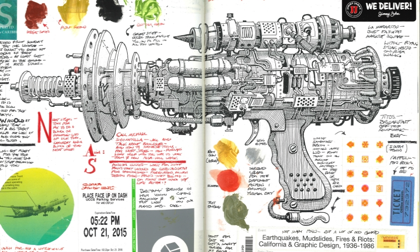 This is the ray gun that was part of the mechanical show (called Sketchy).  The enhanced objects are all intended for peaceful tasks and even though they appear mighty—they are meant to empower the user with enhanced abilities.