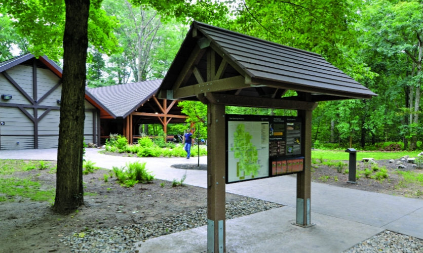 "In 2009 Meeker established Terrabilt, which focuses on sustainable ""green-manufactured"" signage and structures for parks."