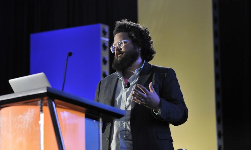 Joshua Walton and James Tichenor spoke about their work with Microsoft