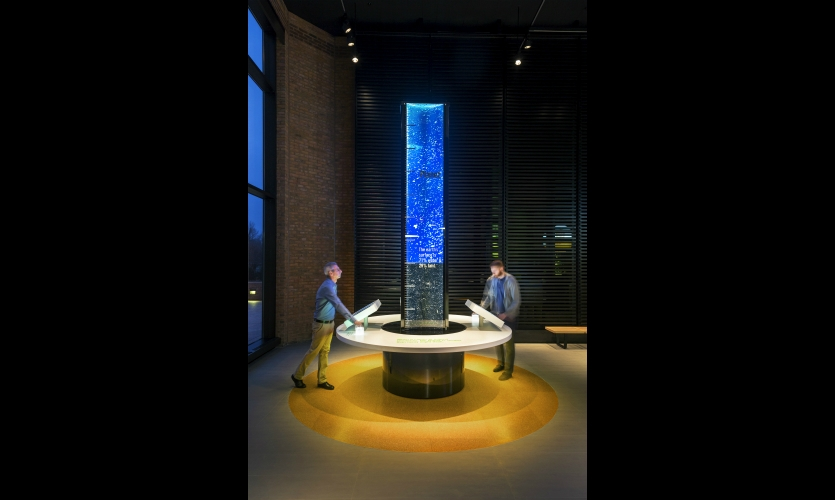 Monsanto's new Ernest Jaworski Agricultural Science Gallery uses interactive displays to tell the story of how Monsanto is getting technology into the hands of farmers.