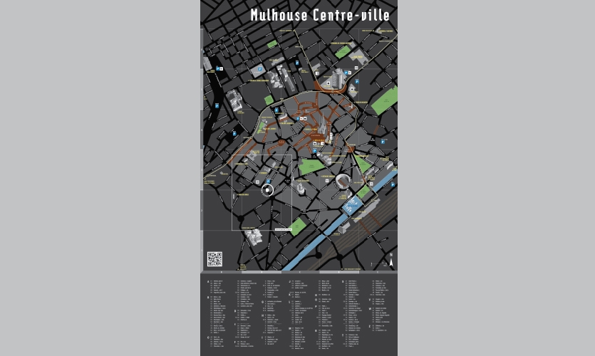 From Archigraphia Redux: Mulhouse Cityway; Mulhouse, France; Design Firm: Ateliers 59; Client: The City of Mulhouse