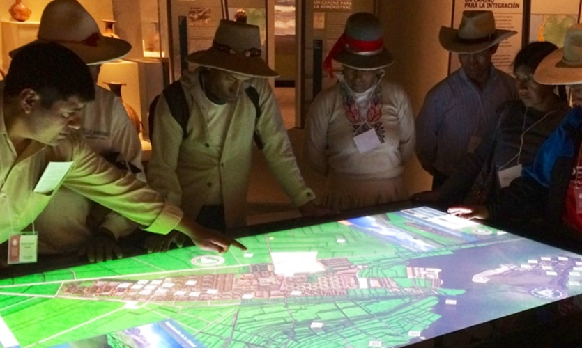National Museum of the American Indian | Great Inka Road interactive table