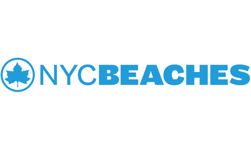 Scher previously developed the identity and signage standards for the entire NYC Parks and Recreation system, which also maintains public beaches. For the beaches, she maintained the NYC Parks iconic leaf logo, but used distinct fonts (Founders Grotesk and Maple) and a bright blue and yellow color palette.