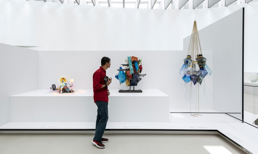 The biggest challenge was incorporating various glassworks into a cohesive show and taking into account the amount of foot traffic and crowds that would be around fragile works of art.