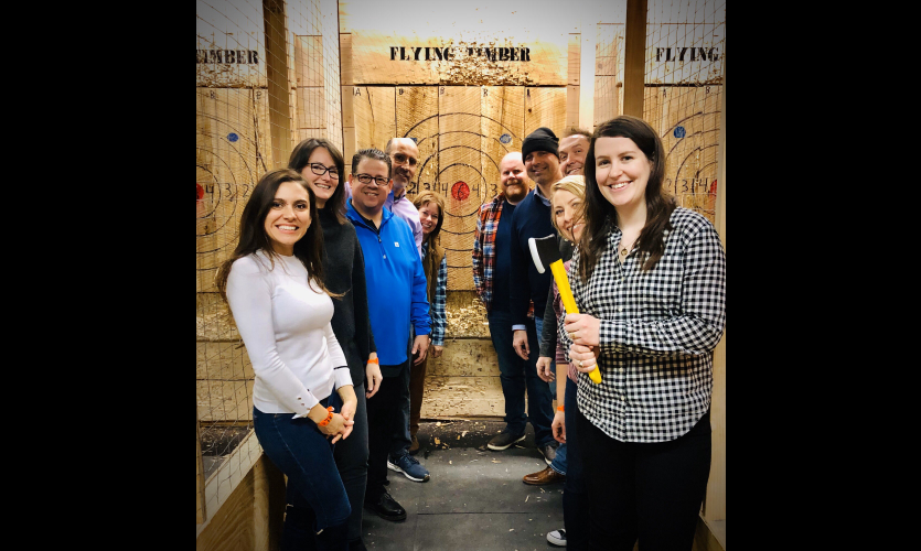 Axe Tossing Party—SEGD Omaha Chapter