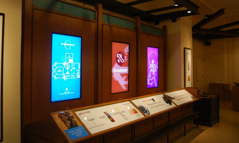 With more than 7 million visitors per year, the Smithsonian was looking for a way to educate, inform, and direct each visitor to various activities within the museum. OpenEye was part of the team that developed the interactive wayfinding system.