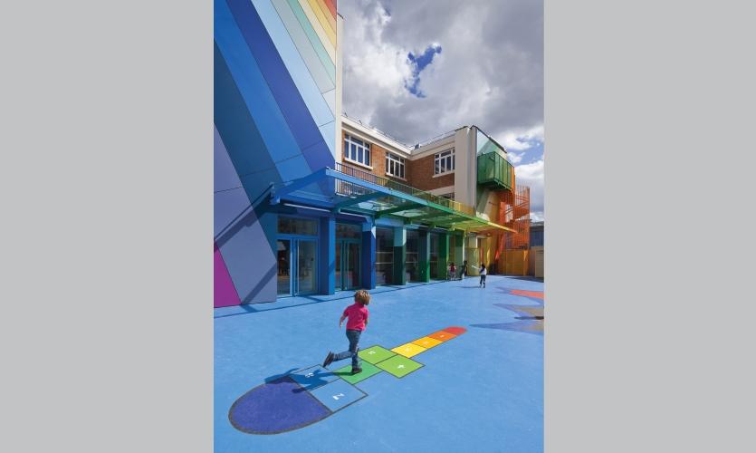 From Archigraphia Redux: Pajol Preschool; Paris, France; Design Firm: Olivier Palatre Architectes; Client: City of Paris