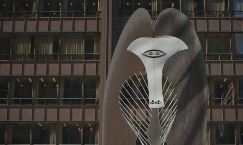 Bonus round: the Picasso sculpture and Alexander Calder's Flamingo at Daley Plaza are on the Art and Architecture Tour available during the 2015 SEGD Conference. (Photo: Adam Alexander Photography)