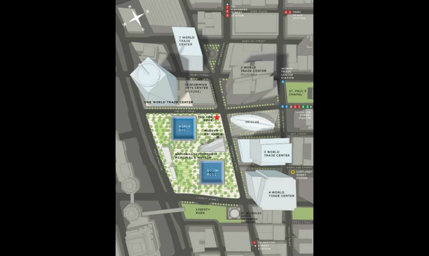 A closer view of the site map