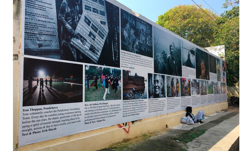 """Pondy Art: Since 2012, Pondy Art, a photography initiative founded by Kasha Vande has produced a series of experimental photo exhibitions in public """"non exclusive environments"""" focusing on important issues in India."""
