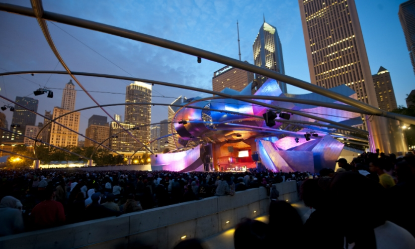 Great art and great architecture are everywhere. The Frank Gehry-designed Pritzker Pavilion is just one of the gems in Millennium Park.