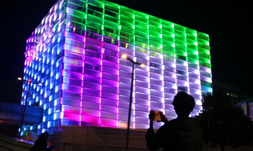 Puzzle Facade was part of Javier Lloret's thesis project in the Interface Culture master's program at the Universität für Künstlerische und Industrielle Gestaltung in Linz, Austria.