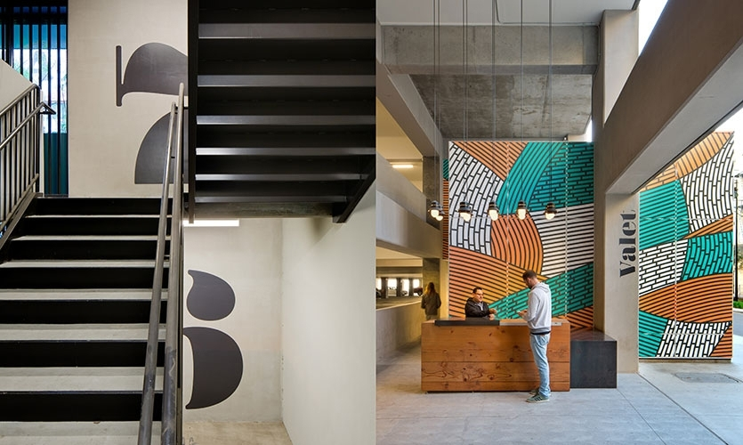 At the new downtown development ROW DTLA (a 2018 SEGD Global Design Award-winning project), Rios Clementi Hale Studios used place-led branding to reveal the story and uniqueness of the place.  (Tour)