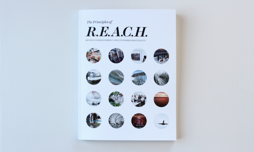 REACH is an aspirational design guideline meant to orient employees and consultants to San Francisco International Airport's point of view, values, and objectives for the future.