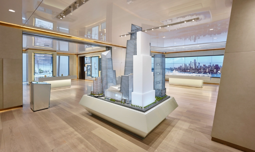 The project unfolded over two-and-a-half years, with six months spent on developing and distilling the dense and complicated narrative of Hudson Yards—no small task when the subject is not yet built.