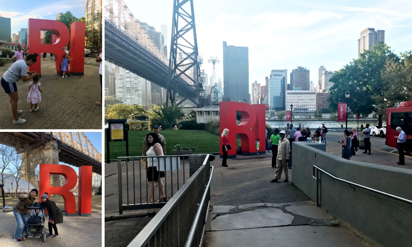 """The big red """"RI,"""" was mocked up in wood by fabricator MS Signs and tested in various locations before being officially adopted."""