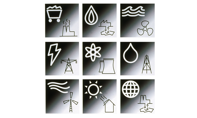 "Student project, third year, icon system design, ""Energy"""