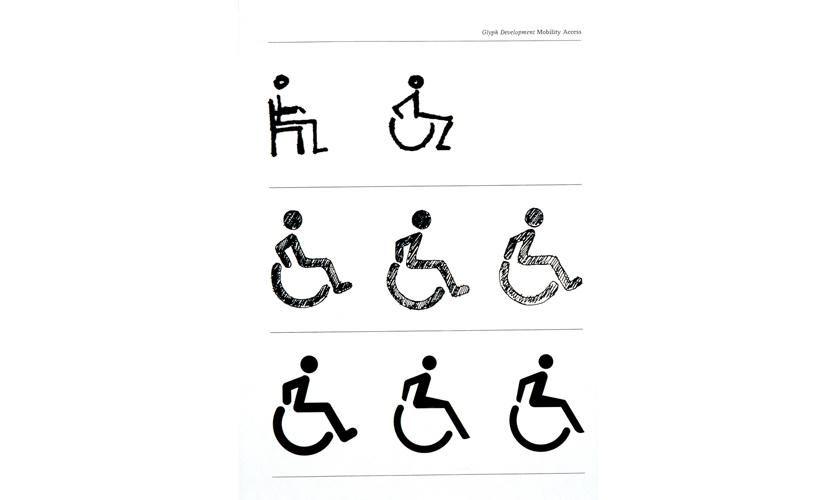 "student project, graduate level, ""Accessibility symbol"" (Brendan Murphy)"