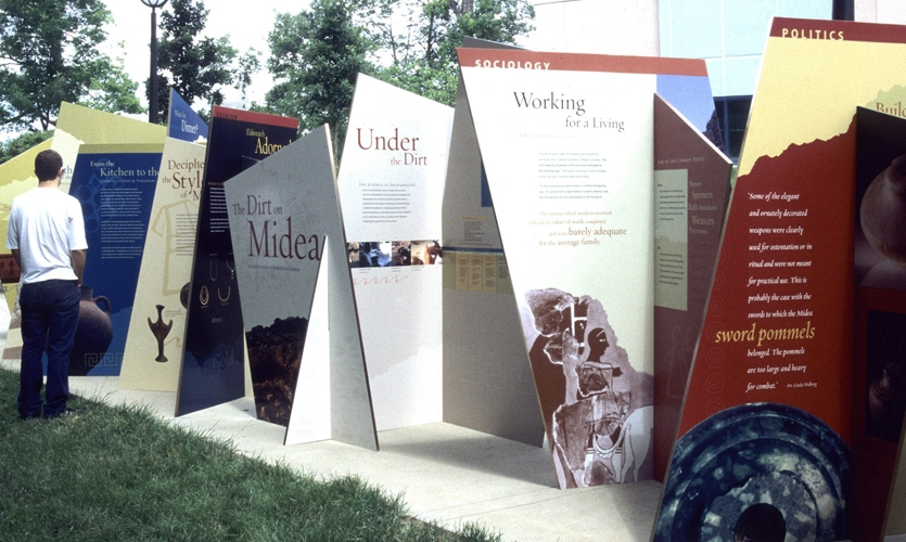 "Student group-project, senior level, ""The Dirt on Midea,"" traveling archeology exhibit"