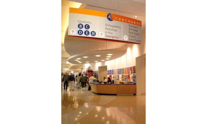 Wayfinding System for Cincinnati Children's Hospital, interior