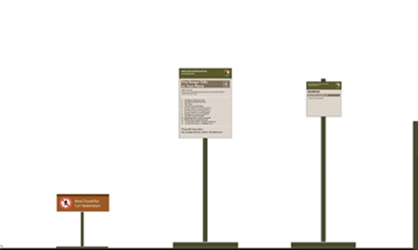 The NPS UniGuide signage standards (developed by Meeker & Associates) provided the foundation for unifying a wide range of regulatory signs.