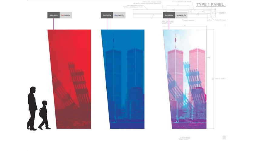 The graphic solutions were often as layered as the content. (image: rendering of Fateful Failures graphic)